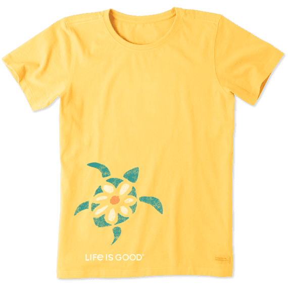 c21d32c3 Women's Sea Turtle Daisy Crusher Tee | Life is Good® Official Site