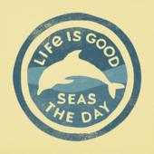 Women's Seas The Day Dolphin Crusher Tee