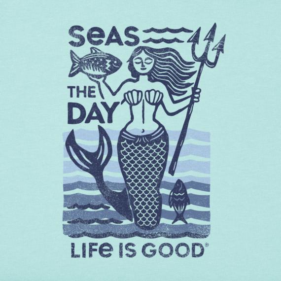Women's Seas The Day Mermaid Crusher Vee