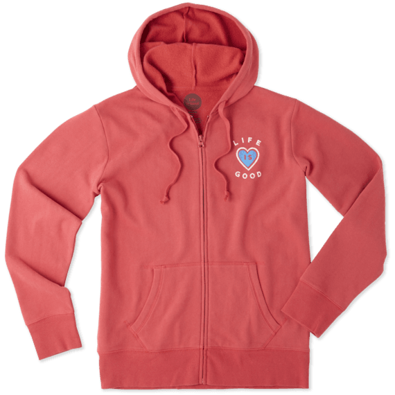 Women's Season Hearts Go-To Zip Hoodie