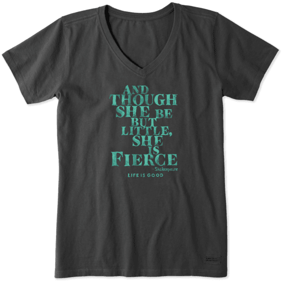 Women's She Is Fierce Crusher Vee