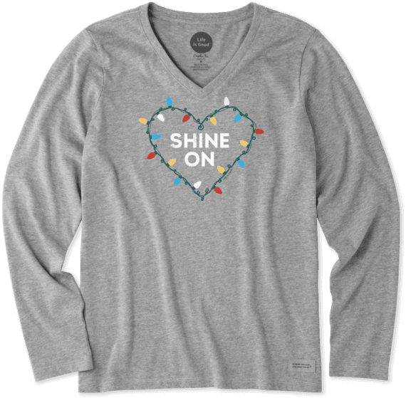 Women's Shine On Lights Long Sleeve Crusher Vee