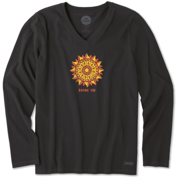 Women's Shine On Sun Long Sleeve Crusher Vee