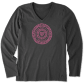 Women's Sign Of Love Long Sleeve Crusher Vee