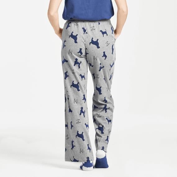 Women's Silhouette Dog Print Snuggle Up Sleep Pant