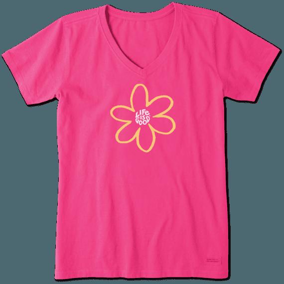 Women's Simple Daisy Crusher Vee