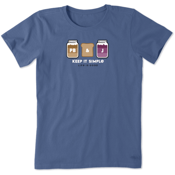 Women's Simple PB&J Crusher Tee