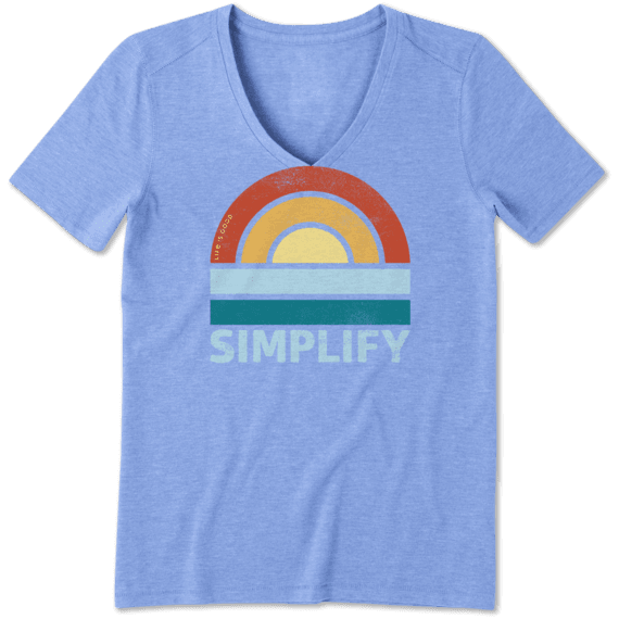 Women's Simple Sun Cool Vee