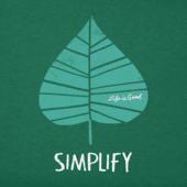 Women's Simplify Leaf Long Sleeve Crusher Vee
