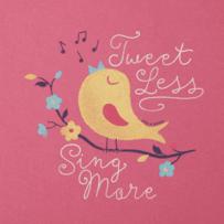 Women's Sing More Tweet Less Crusher Scoop Tank
