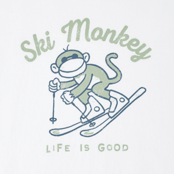 Women's Ski Monkey Long Sleeve Crusher Tee