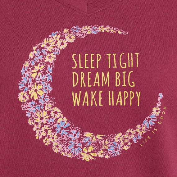 Women's Sleep Dream Wake Moon Snuggle Up Sleep Vee