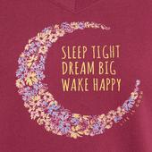 Women's Sleep Dream Wake Moon Snuggle Up Sleep Vee