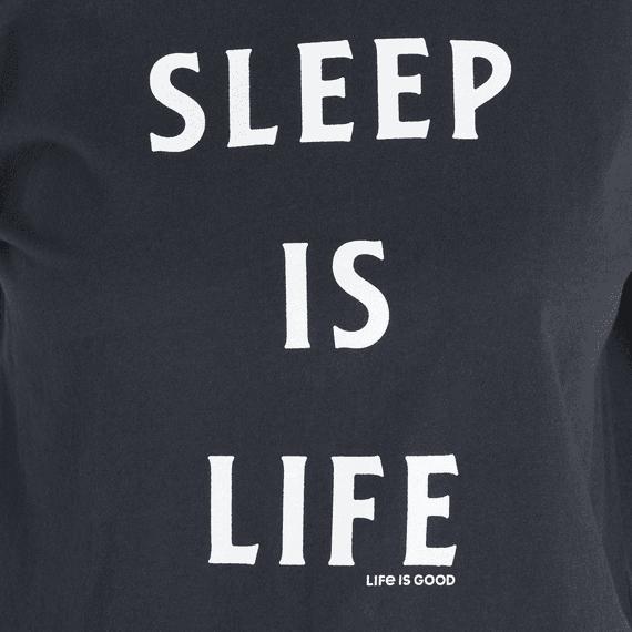 Women's Sleep Is Life Snuggle Up Relaxed Sleep Long Sleeve