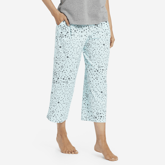 e2d5f0d22a Women s Sleep Stars Cropped Sleep Pants ...