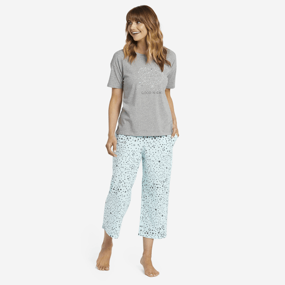 Women's Sleep Stars Cropped Sleep Pants