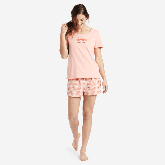 Women's Sleeping Rocket Snuggle Up Sleep Tee