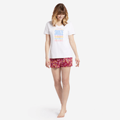 Women's Sleepy Flower Toss Knit Sleep Short