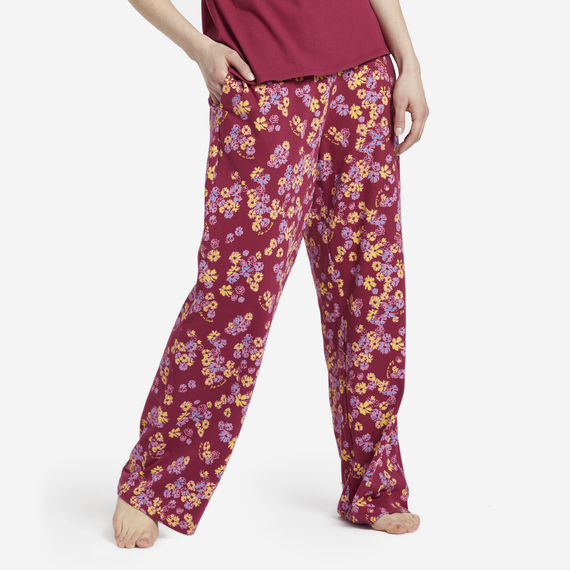 Women's Sleepy Flower Toss Snuggle Up Sleep Pant