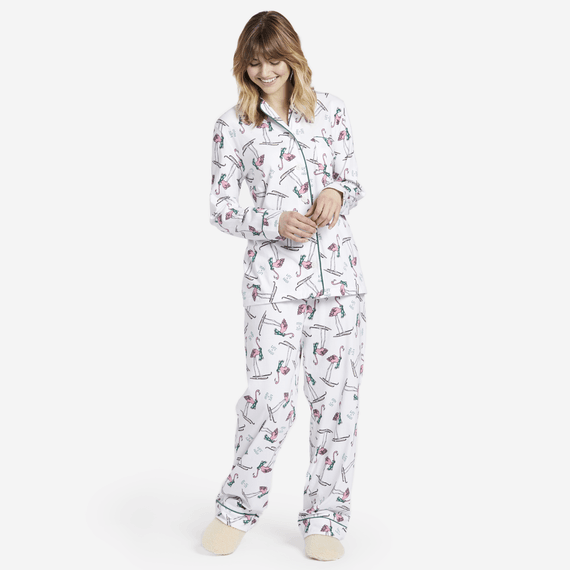6a9b63e847 Images. Women s Sleepy Skiing Flamingo Sleep Set
