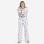 Women's Sleepy Skiing Flamingo Sleep Set