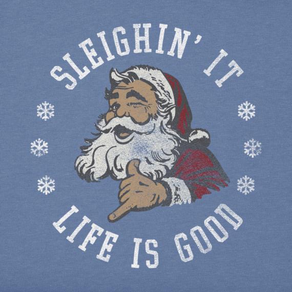 Women's Sleighin It Santa Long Sleeve Crusher Tee