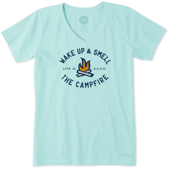 Women's Smell The Campfire Crusher Vee