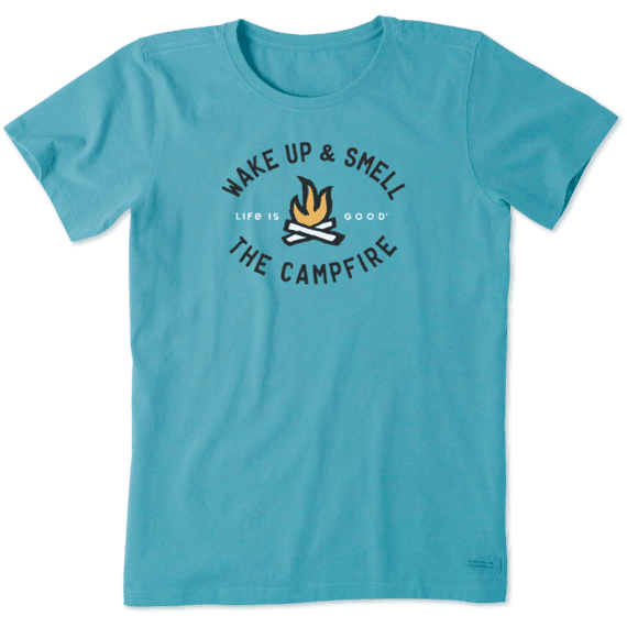 Women's Smell the Campfire Crusher Tee