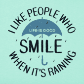 Women's Smile When Its Raining Crusher Vee