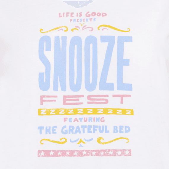 Women's Snooze Fest Grateful Bed Snuggle Up Sleep Vee
