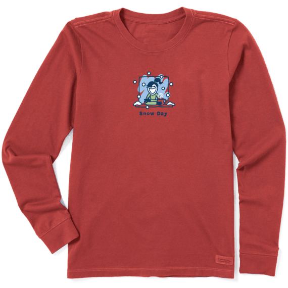 Women's Snow Day Long Sleeve Vintage Crusher Tee