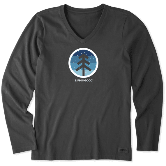 Women's Snowfall Long Sleeve Crusher Vee