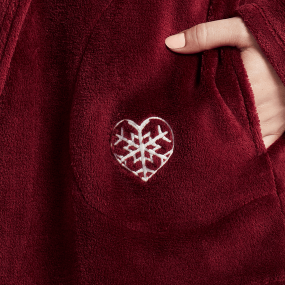 Women's Snowflake Heart Cozy Sleep Hoodie