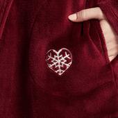 Women's Snowflake Heart Cozy Sleep Hoodie
