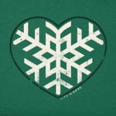 Women's Snowflake Heart Long Sleeve Crusher Vee