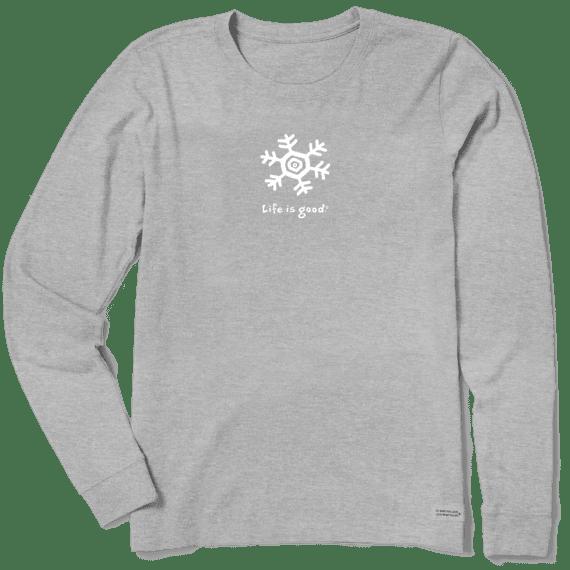 Women's Snowflake Long Sleeve Vintage Crusher Tee