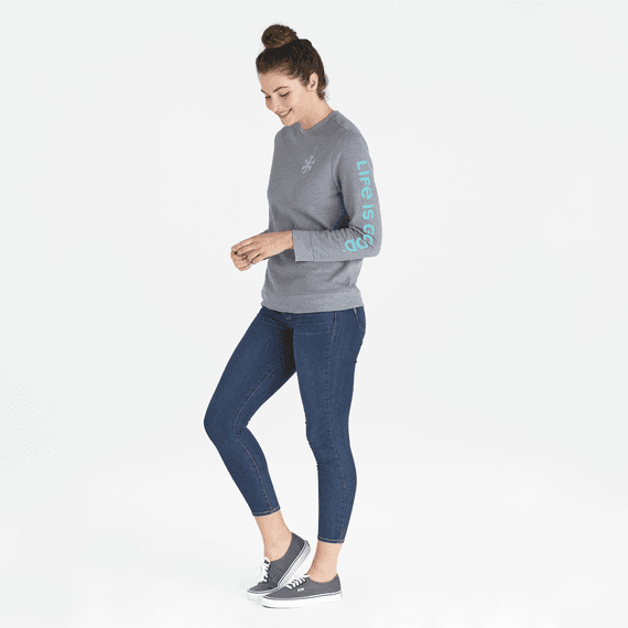 Women's Snowflake Simply True Crew
