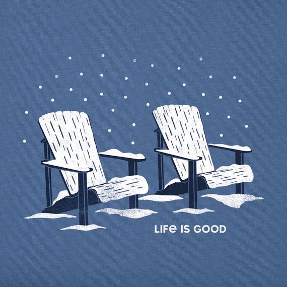 Women's Snowy Chairs Long Sleeve Crusher Tee