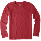 Women's Solid Crusher Tee Long Sleeve