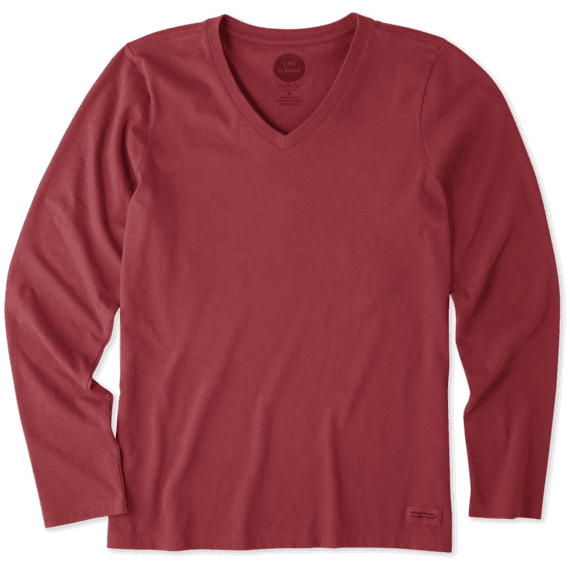 Women's Solid Crusher Vee Long Sleeve