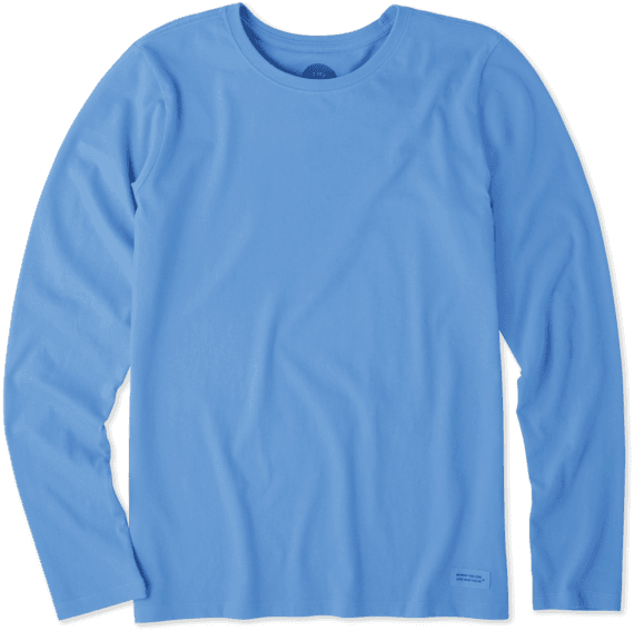 Women's Solid Long Sleeve Crusher Tee