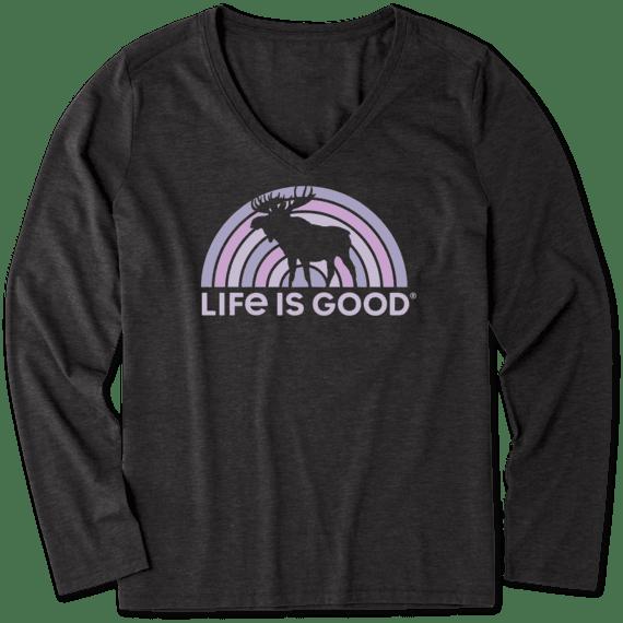 Women's Spectrum Moose Long Sleeve Cool Vee