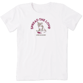 Women's Spread The Love Dog Spilled Wine Crusher Tee