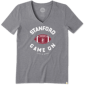Women's Stanford Game On Football Cool Vee