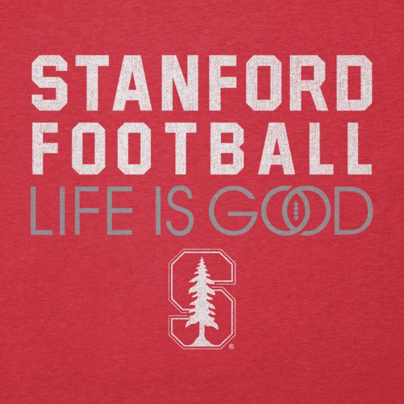 Women's Stanford Infinity Football Long Sleeve Cool Vee