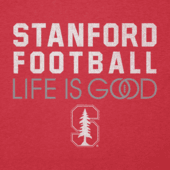 Women's Stanford Infinity Football Long Sleeve Cool Vee