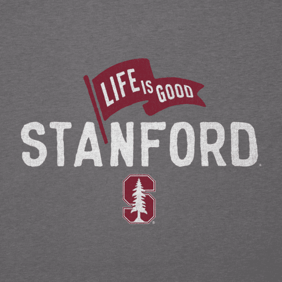 Women's Stanford Pennant Long Sleeve Cool Vee