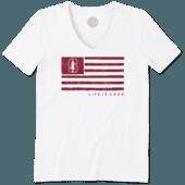 Women's Stanford Team Flag Cool Vee