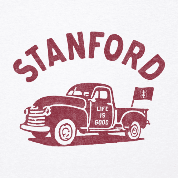 Women's Stanford Vintage Truck Long Sleeve Cool Vee