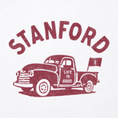 Women's Stanford Vintage Truck Long Sleeve Cool Vee